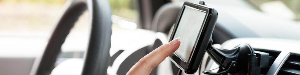 routebeschrijving invoeren in de auto